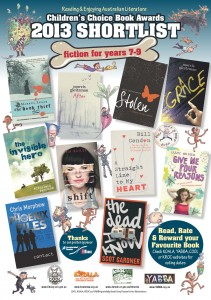 The young adult shortlist for 2013 KOALA Awards
